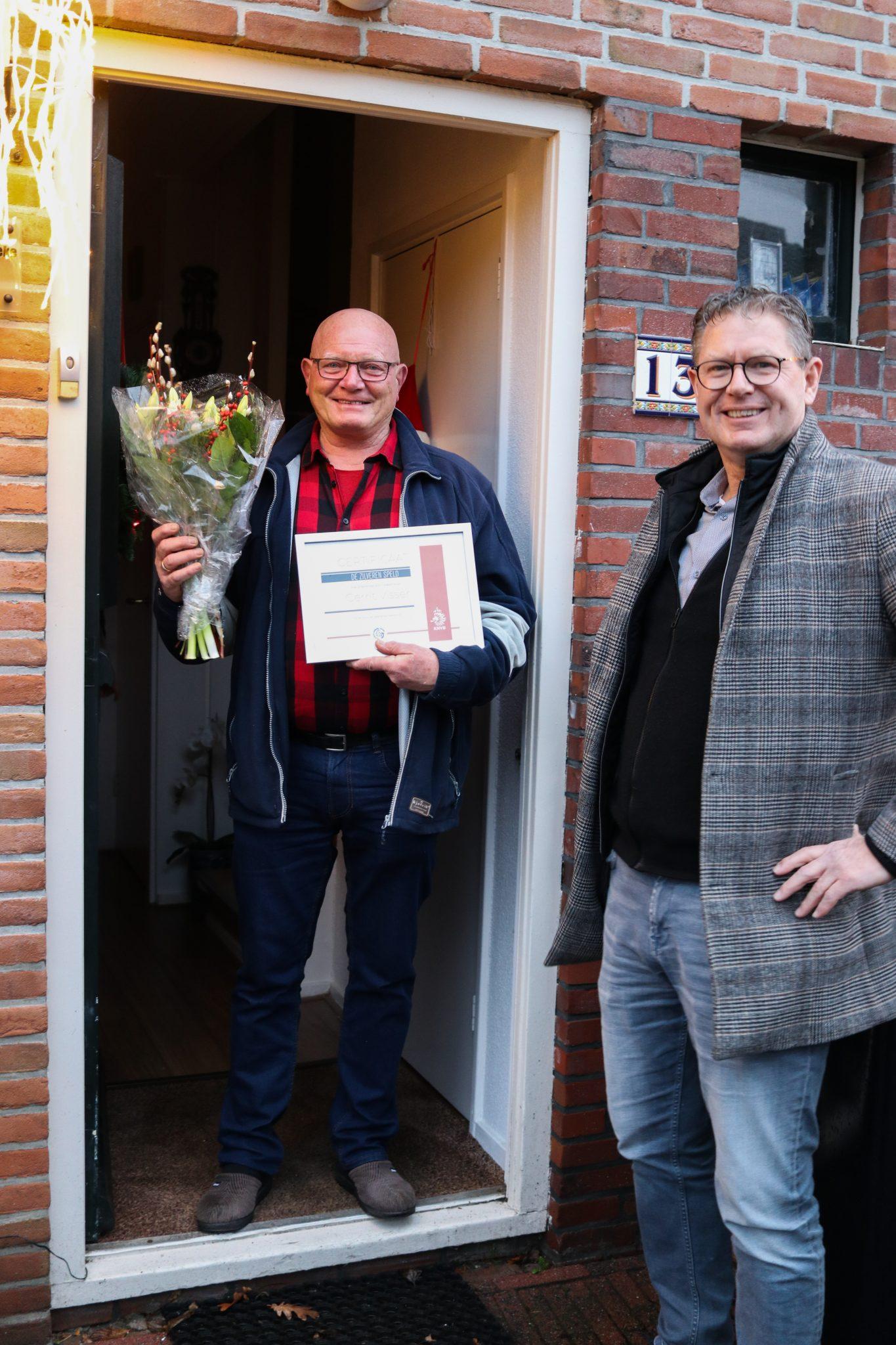 Gerrit Visser is door de KNVB benoemd als Drager van de Zilveren Speld