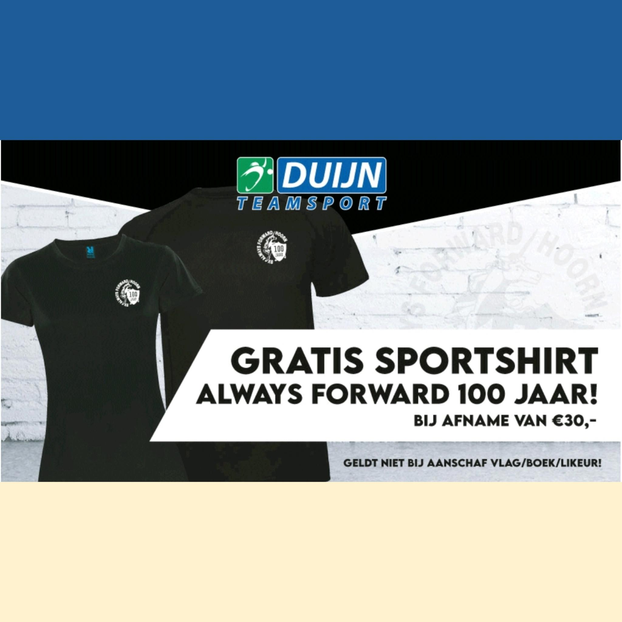 Gratis jubileum shirt!