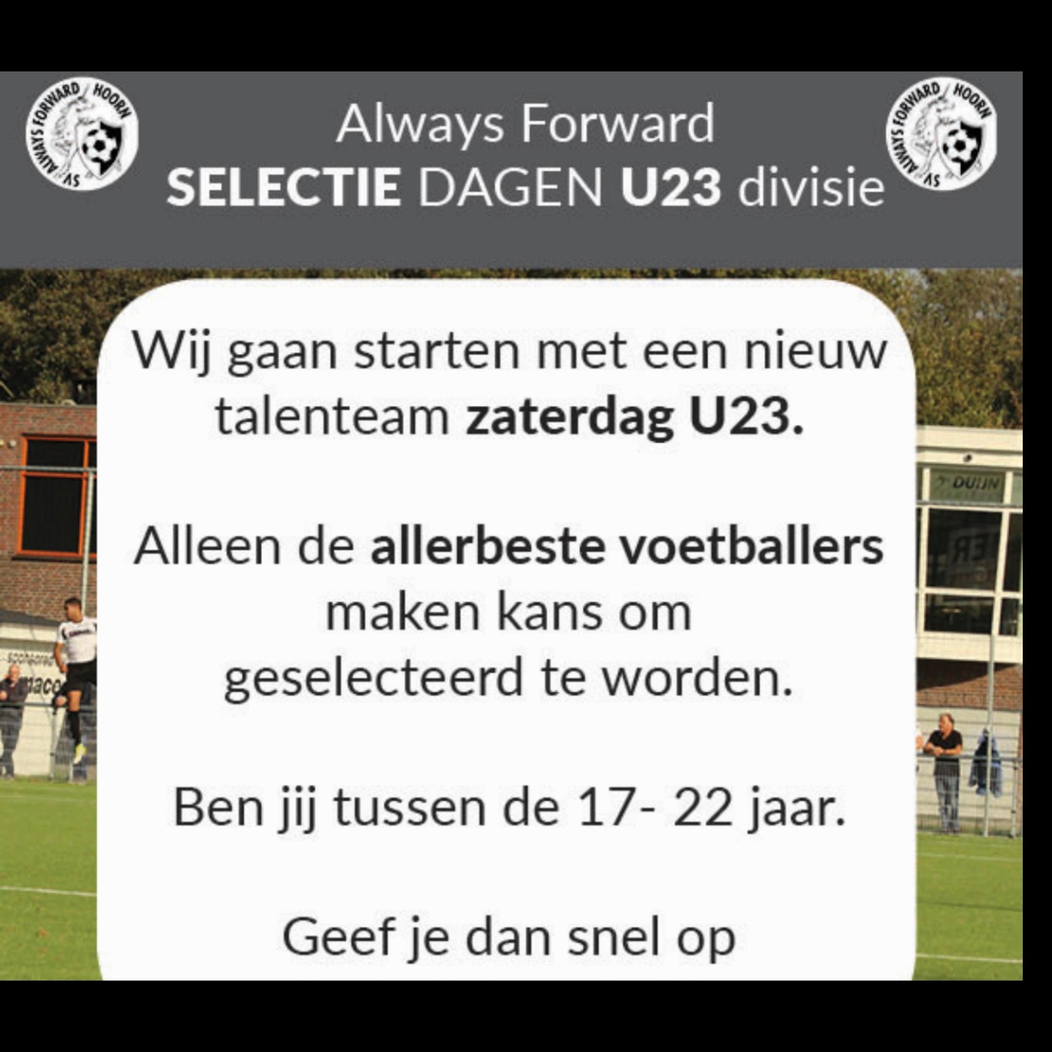 TalentTeam zaterdag U23